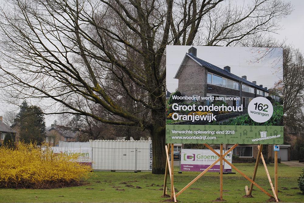 Oranjewijk Veldhoven: Groot onderhoud. Schilderwerk en beglazingswerkzaamheden